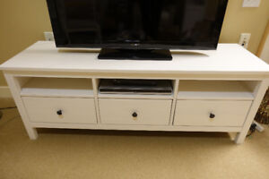 IKEA HEMNES TV Console - Solid Wood - White Stain