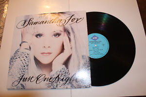SAMANTHA FOX JUST ONE NIGHT LP CANADA. MINT CONDITION. Gatineau Ottawa / Gatineau Area image 1