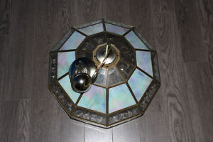Ceiling Light Fixture - Glass and Opal-like panels