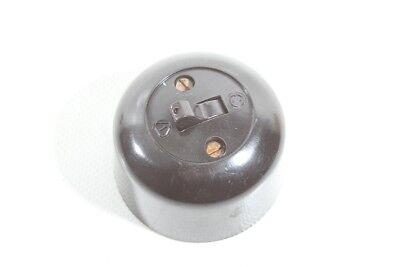 Alter Toggle Switch Bakelite Exposed Light Art Deco Loft Change-Over