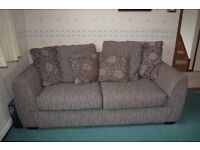 Light Brown, Striped sofa