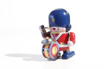 + Blechspielzeug   SOLDAT MIT PAUKE   Aufzugsmodell  Tin Toy - Jouet en Tôle