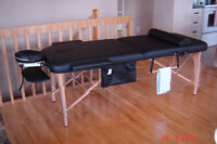 Table de massage professionnelle portative équipée au complet