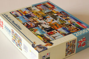 2000 piece jigsaw puzzle : TWA Travel Posters : As-New!