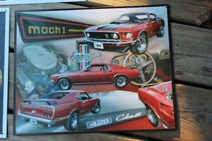 Corvette & Mustang Tin Signs