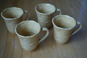 4 Gold Coffee mugs - for home, office or housewarming gift?