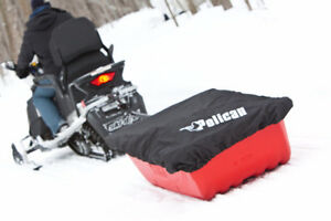New Pelican Trek Sport 68 Snowmobile Sled with Hitch and Cover