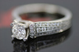 **BRILLIANT CUT** 14kt White Gold Lady's Diamond Ring (#17063)