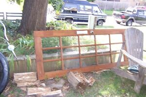 """♥SOLID PINE FRENCH DOOR WITH 18 GLASS PANES 32""""W x 80 """"L♥"""