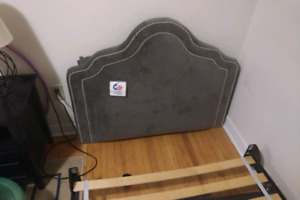 Single/ Twin bed frame and head board with sheets.