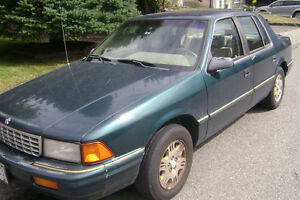1993 Plymouth Acclaim - reliable car, low kms