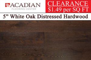 "WEEKLY CLEARANCE: 5"" White Oak Distressed Hardwood Flooring"
