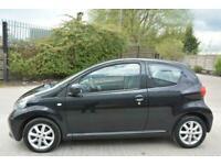 TOYOTA AYGO BLACK 1.0 VVT-I 3 DOOR*IDEAL FIRST CAR*ALLOYS*£20 ROAD TAX*