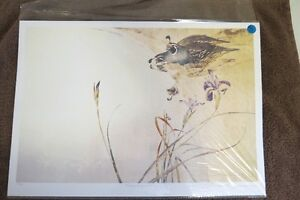 """Limited Edition print by Thomas Quinn - """"Drinking Valley Quails"""""""