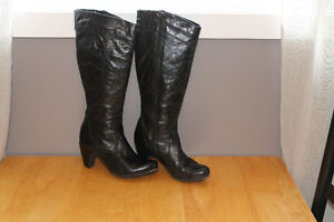 Black Aldo Leather Women's Boot - Size 38