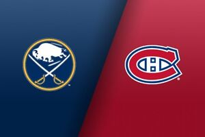 Canadiens Vs Sabres. Tonight!!! Great price.