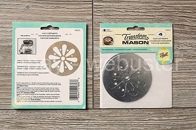 Transform Mason - Daisy Lid Insert - Blumendeckel Deckel Jar (Ball) Einsatz 4er