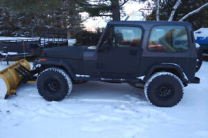 1990 Jeep with Myers plow