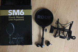 RODE Microphone SM6 Shock Mount with Popshield brand new !