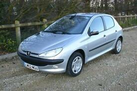 Only 45036 Miles Peugeot 206 1.1 LX 5 Door with SERVICE HISTORY and NEW MOT