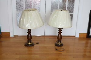 Roxton Maple Wooden Table Lamps