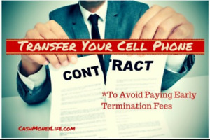 Cellphone contract transfers