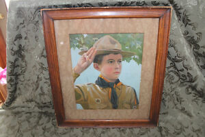 "Old Picture ""A Canadian Boy Scout"" 1911 London Ontario image 1"