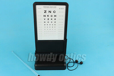 Letter Chart Amsler Grid Optometry Near Visual Acuity Chart Near Vision Tester