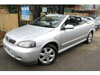 Vauxhall Astra 1.8 Silver Coupe Convertible FSH Long MOT Low Mileage