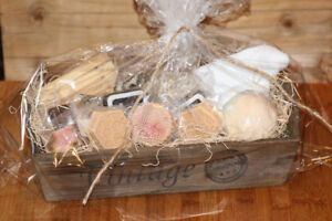Bath and Spa GIft Basket - Handcrafted Natural Soaps