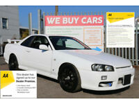 Nissan Skyline 2.5 GTT TRIPTRONIC (f1) R34 RUST FREE EXAMPLE SUPERB THROUGHOUT