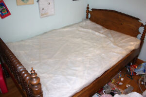 Antique Bed Frame and Mattress 3/4 size