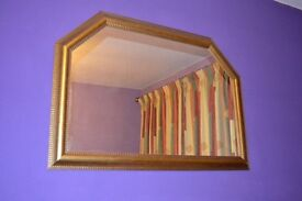 Large Guilt Mirror with angled top corners