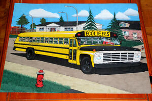 GRAND DESSIN AUTOBUS SCOLAIRE FORD SUPERIOR SCHOOL BUS DRAWING