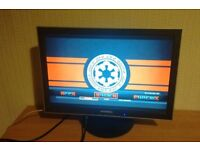 """19"""" monitor with 2 VGA inputs + dvi for PC"""