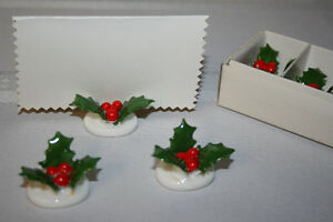 Vintage Placecard Holders-Christmas