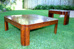 2 Burled Walnut Tables For Sale