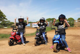 Revvi Kids Electric Bikes, two speeds, balance wheels included. Quality product great fun for kids