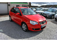 Volkswagen Polo 1.4TDI MATCH 5 DOOR RED 2009 + LOVED & CHERISHED FROM NEW+