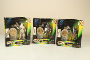 Lot of 3 Star Wars Action Figures Snowtrooper Han Solo Chewbacca