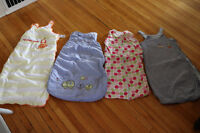 Selling 4 sleep sacks from 0 to 18 months