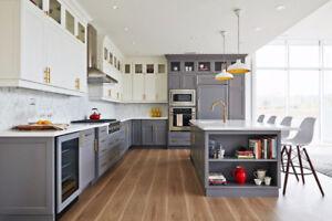 SOLID Maple Cabinet 50%OFF+Granite Quartz Countertop From $45/SF