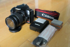 CANON EOS REBEL XS Digital SLR Lens 28-88mm 3 BATTERIES SCHARGER