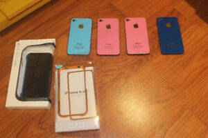 Assorted Apple Iphone 3G 3GS 4 and 4S Cellphone Cases and Covers