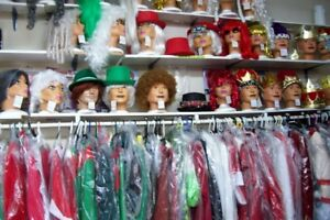 CHRISTMAS COSTUMES, wigs, hats, etc. Buy or rent- Act 1 Chatham