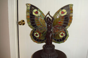 Tiffany Style Butterfly Girl Lamp