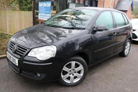 2009 Volkswagen Polo 1.4 TDI Match PD Black 5 Dr FSH Long MOT Finance Available