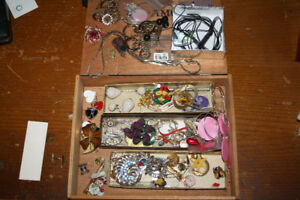 jewelry box of odd new and old