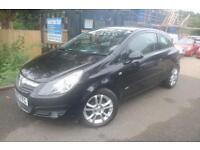 Vauxhall Corsa 1.2 SXI Black 3 Door Long MOT Finance Available