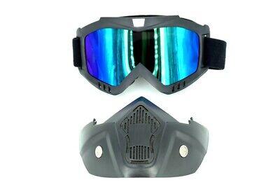 Motorrad Brille Gesichtsmaske Moto-Cross MX Dirt Bike MTB Quad ATV SKi Snowboard